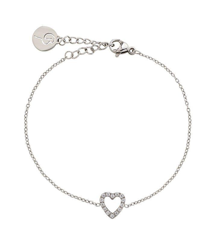 Glow Heart Bracelet Steel