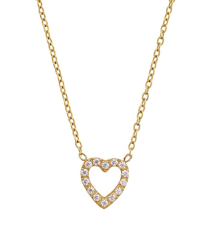 Glow Heart Necklace Gold