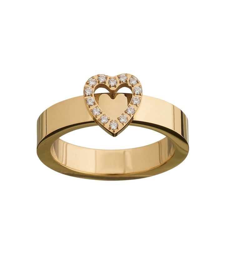 Glow Heart Ring Gold