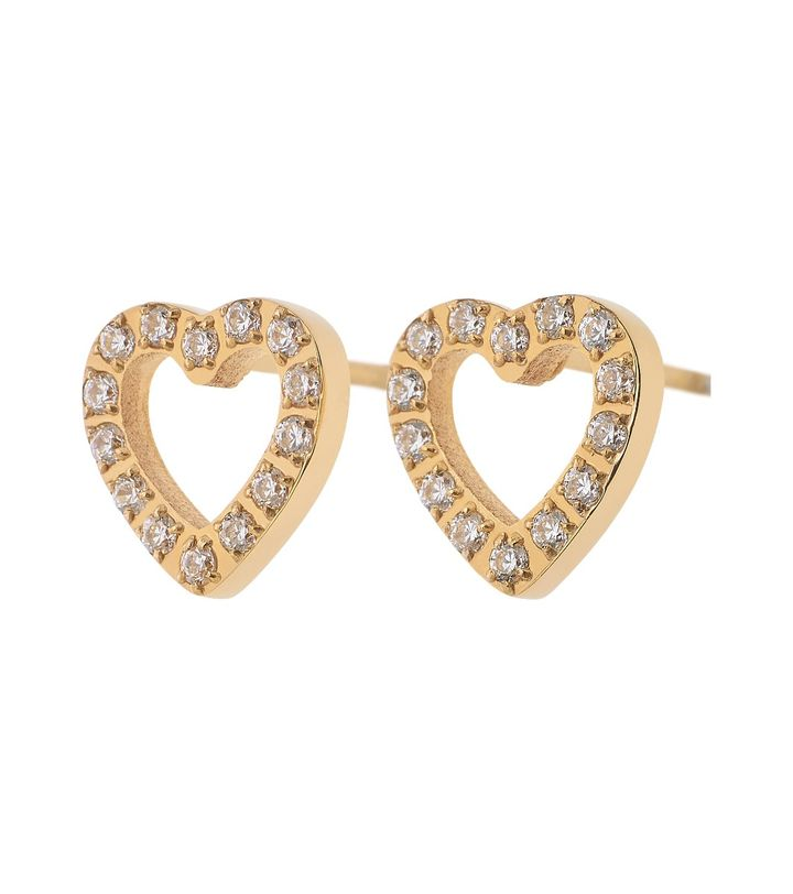 Glow Heart Studs Gold