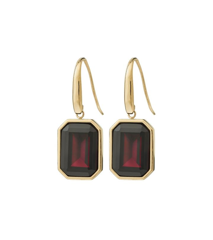 Grand Earrings Plum Gold