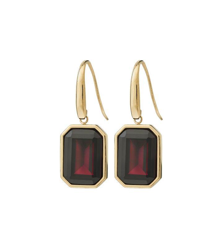 Grand Earrings Plum Gold
