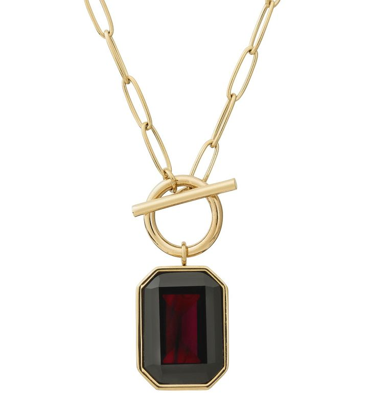 Grand Necklace Plum Gold