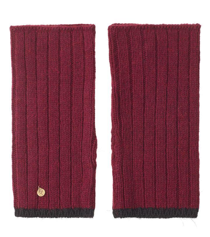 Greta Ribbed Knit Arm Warmer Bordeaux