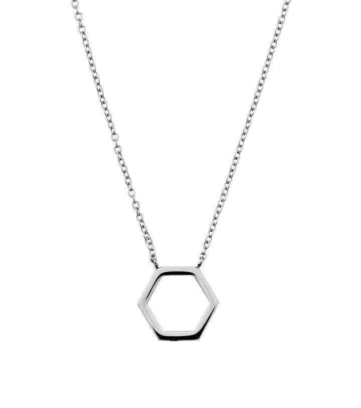 Hexagon Necklace Steel