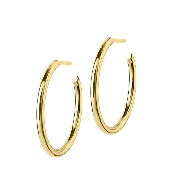 Hoops Earrings Gold Medium