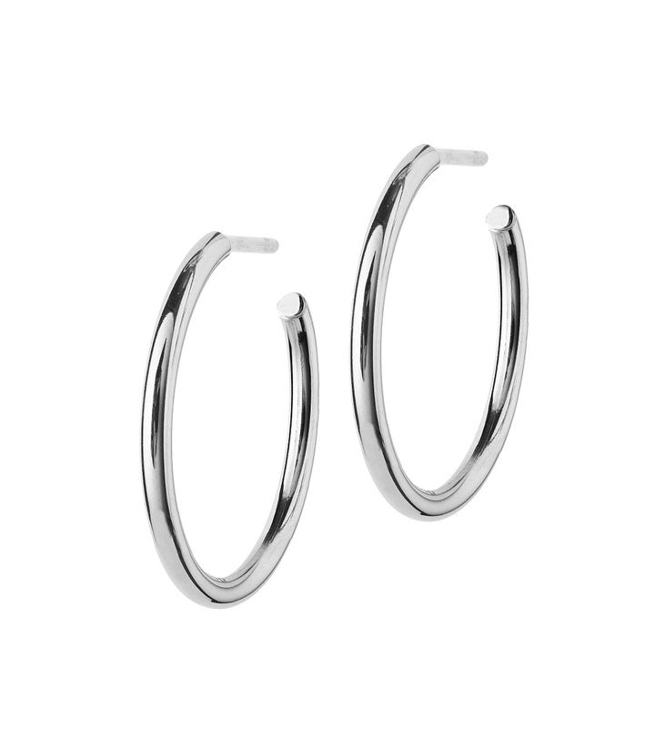 Hoops Earrings Steel Medium