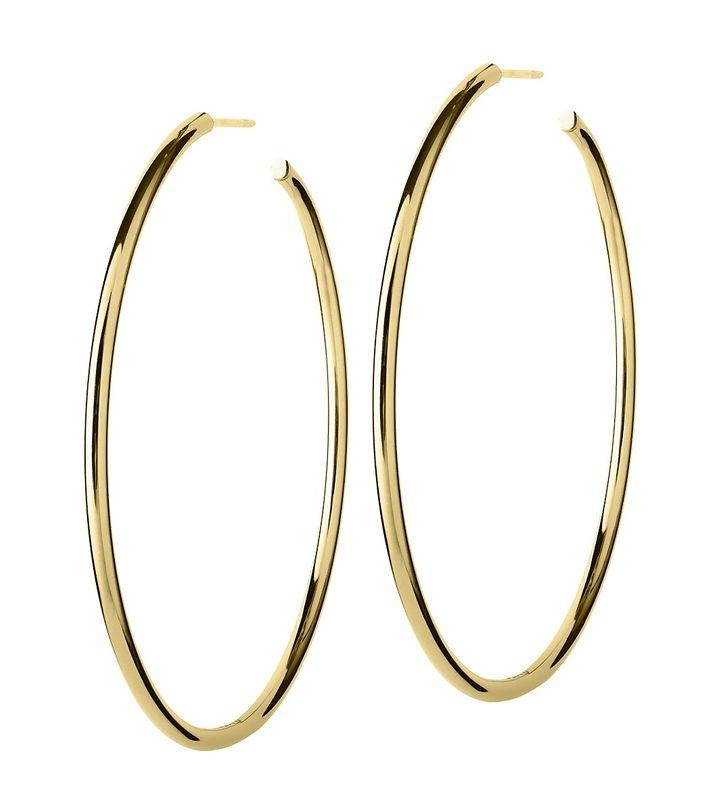 Hoops Earrings Gold Large