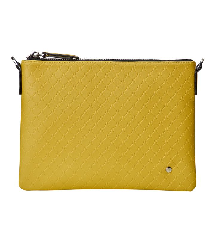 Irene Small Bag Tiles Embossed Mustard