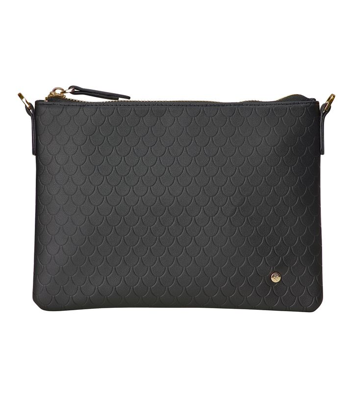 Irene Small Bag Tiles Embossed Black