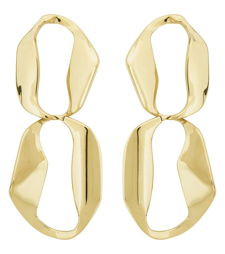 Karla Earrings Double Gold