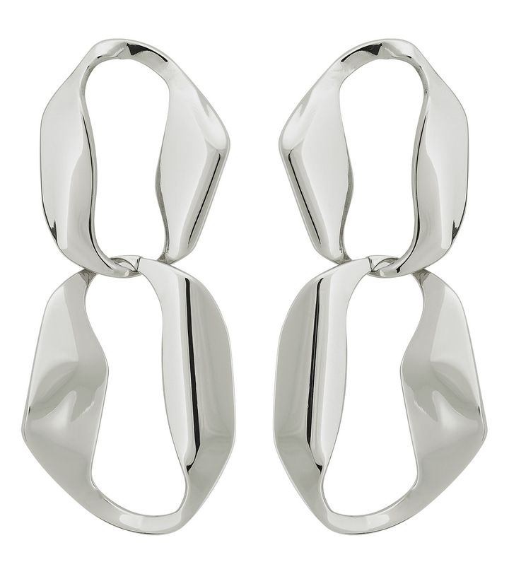 Karla Earrings Double Steel