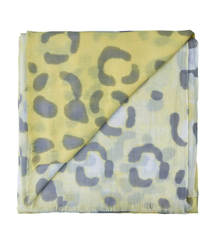 Leopard Cotton Modal Sarong Lemon Sorbet