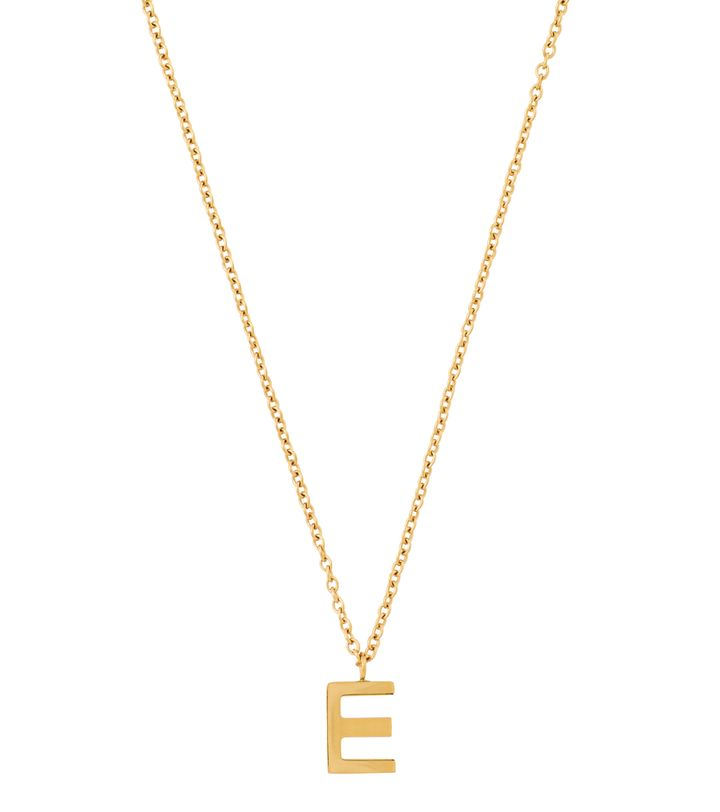 Letter Necklace A-Ö Gold