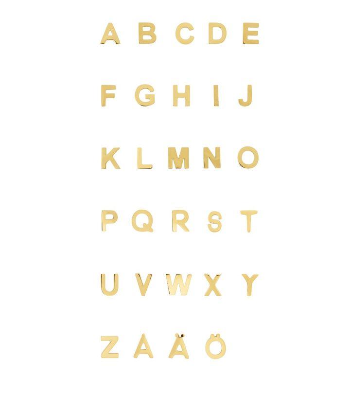 Letter Studs A-Ö Gold