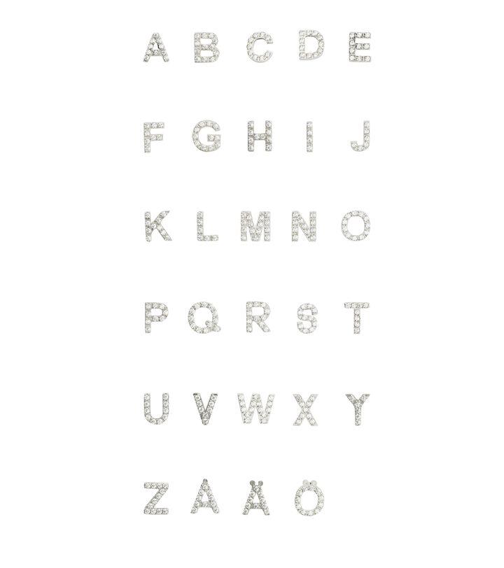Letter Studs A-Ö Steel