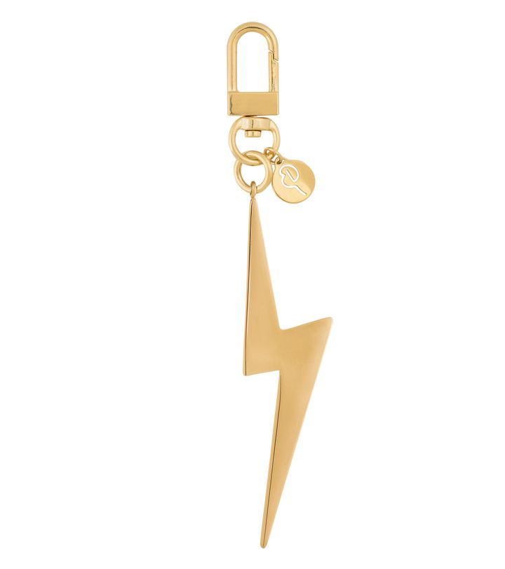 Lightning Bag Charm Gold