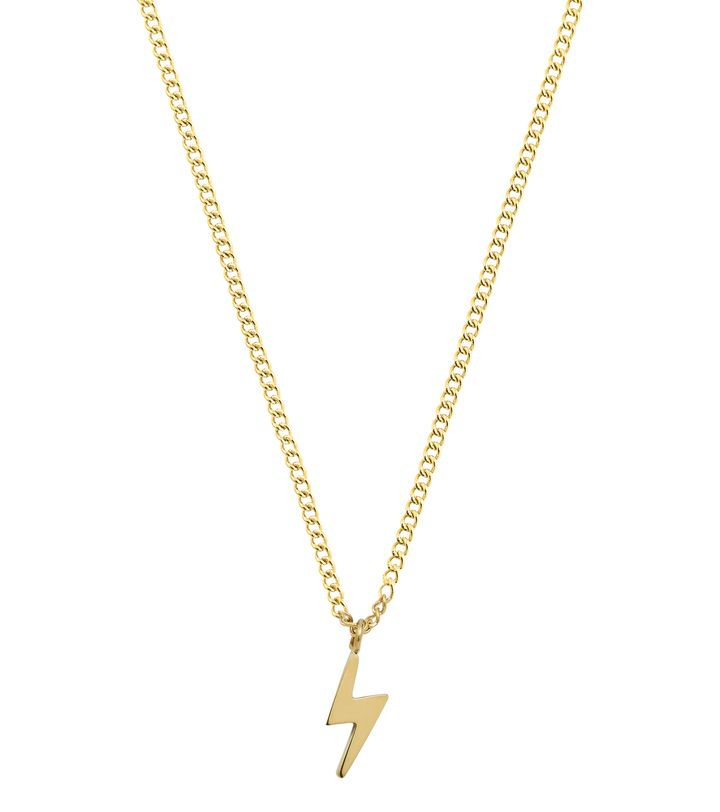 Lightning Mini Necklace Gold