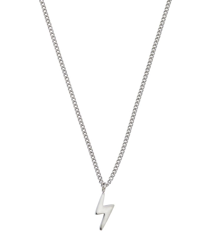 Lightning Mini Necklace Steel