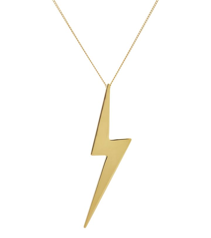 Lightning Necklace Long Gold