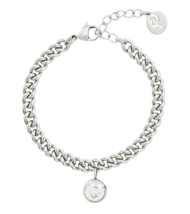 Lourdes cz Bracelet Steel