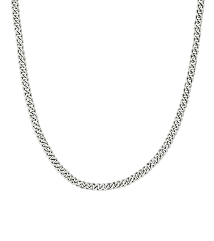Lourdes Chain Necklace Steel