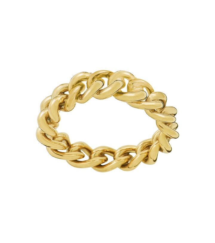 Lourdes Chain Ring Gold
