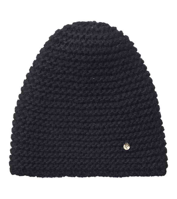 Lovis Heavy Knit Beanie Black