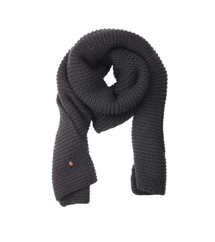 Lovis Heavy Knit Scarf Black