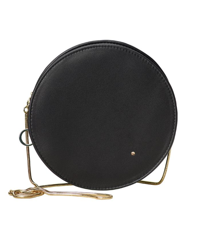 Midnight Round Evening Bag Black