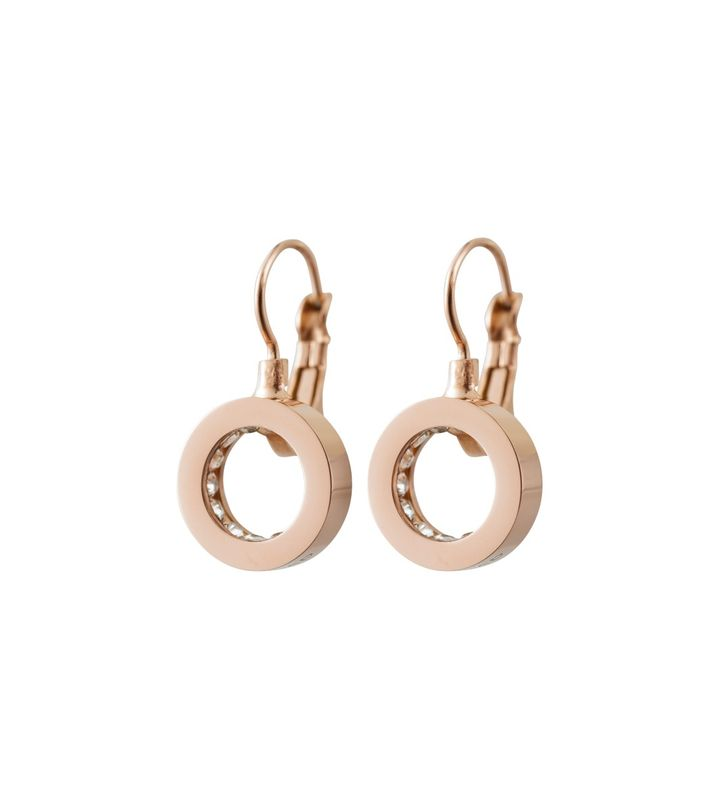 Monaco Earrings French Hook Rose Gold