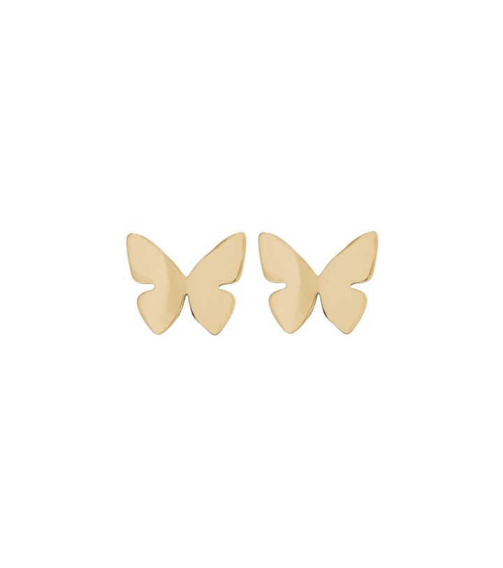 Papillon Studs Gold