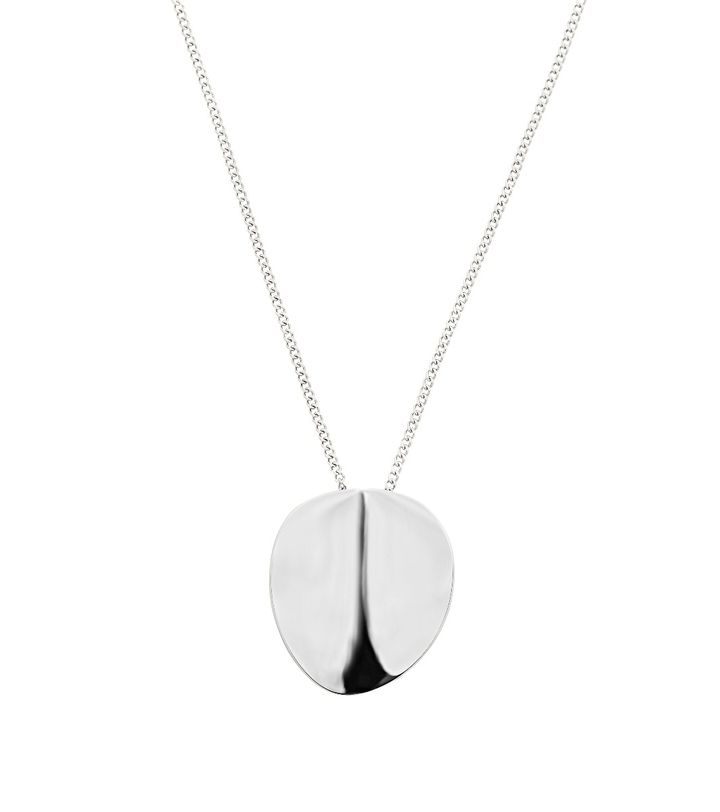 Pebble Necklace Short Steel