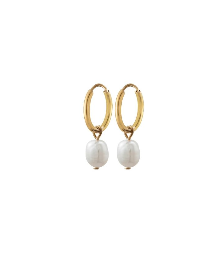 Perla Earrings Creole Gold