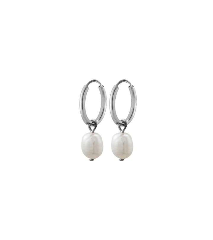 Perla Earrings Creole Steel