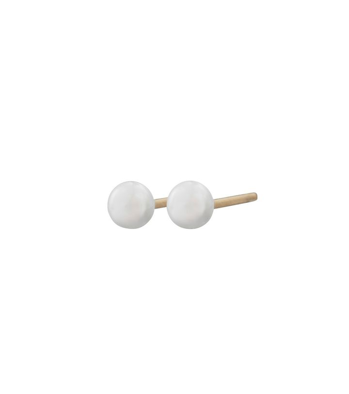 Perla Mini Studs Pearl Gold
