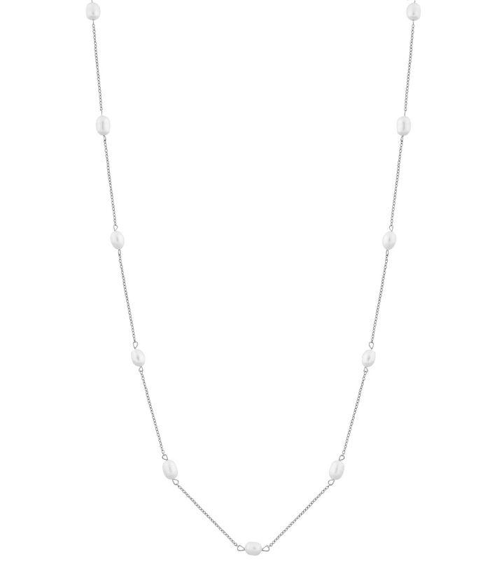 Perla Necklace Multi Long Steel