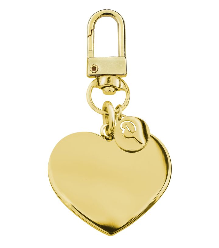 Pure Heart Bag Charm Gold