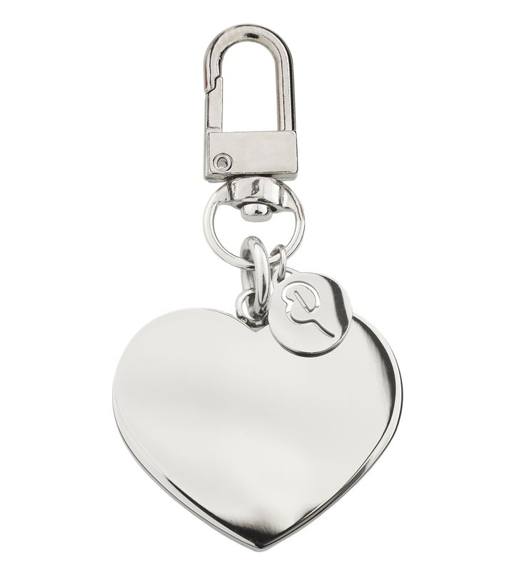 Pure Heart Bag Charm Steel