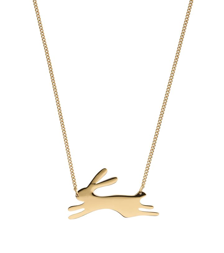 Rabbit Necklace Gold