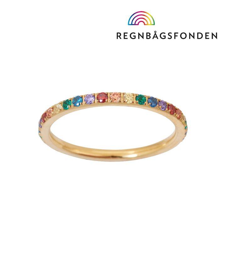 Rainbow Ring Mini Gold