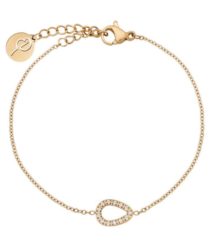 Sander Contour Bracelet CZ Gold