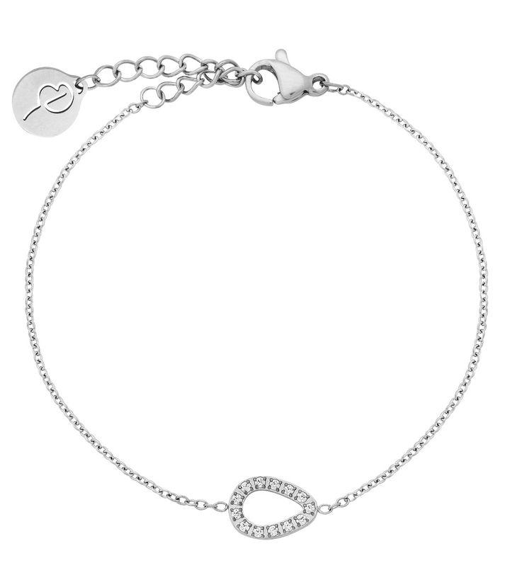 Sander Contour Bracelet CZ Steel