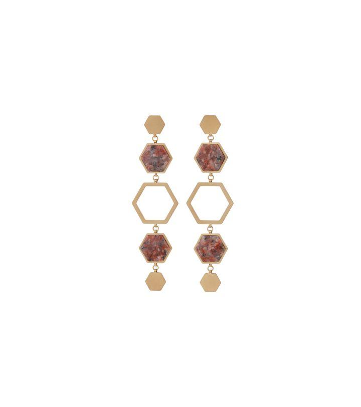Sapphire Earrings Maxi Energy Matt Gold