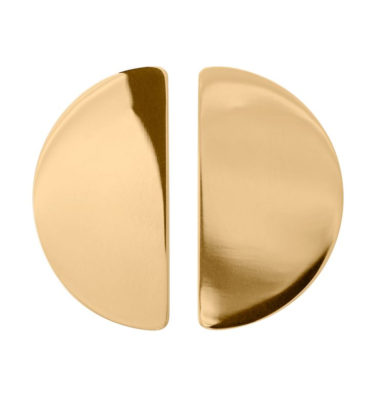 Shapes Studs Semicircle Gold