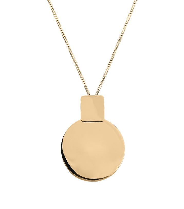 Shapes Necklace Long Gold