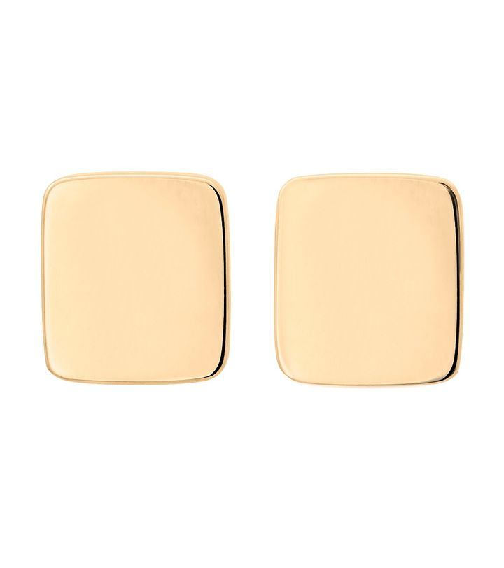 Shapes Studs Rectangle Gold