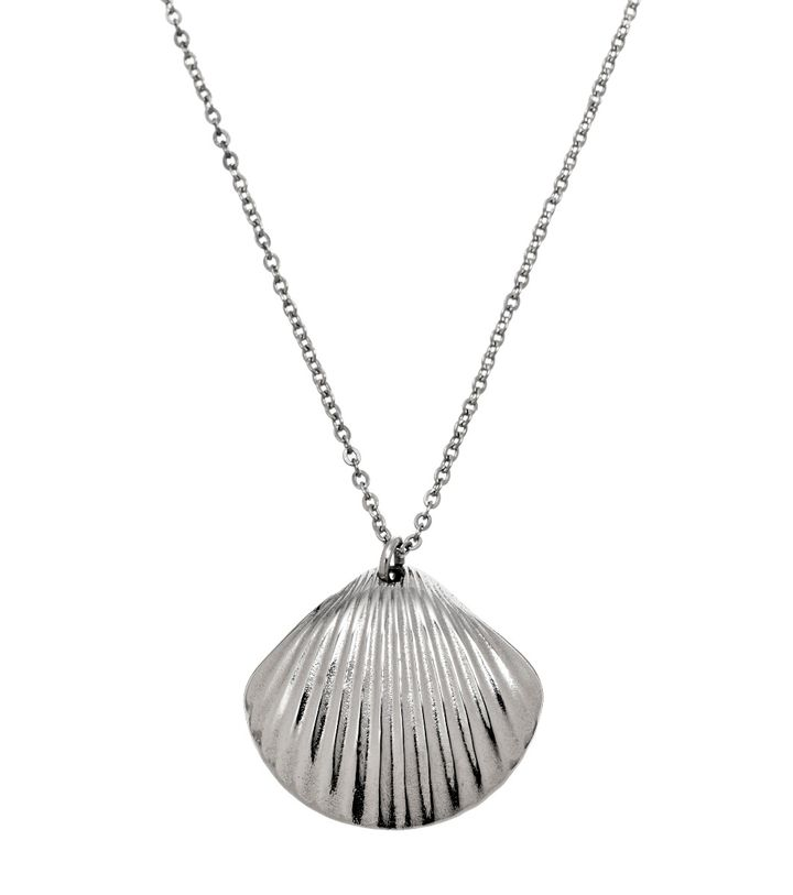 Shell Necklace Long Steel