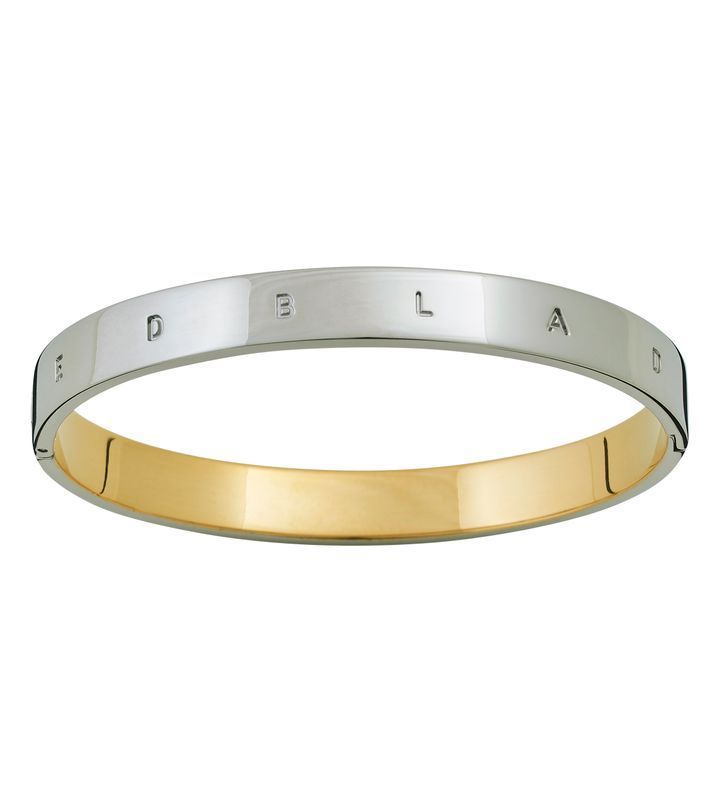 Signature Bangle Steel/Gold
