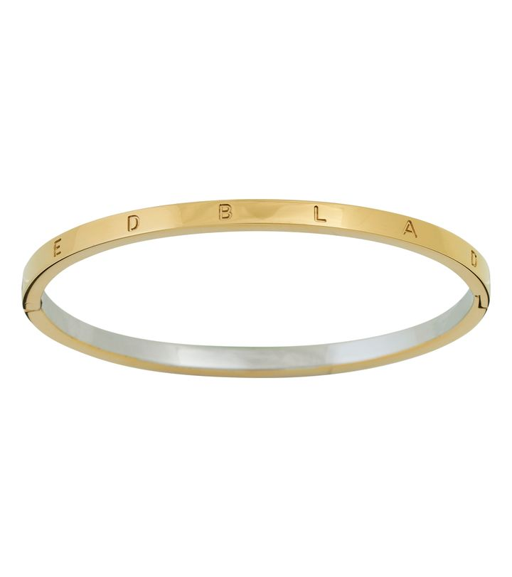 Signature Bangle Thin Gold/Steel